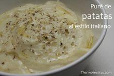 Puré de patatas al estilo italiano suave y delicioso
