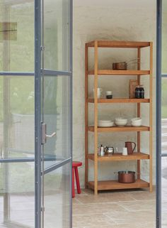 FRAM Large Oak Shelving Unit by Another Country Oak Shelving Unit, Oak Shelves, Modular Shelving, Oak Plywood, Desktop Accessories, Ladder Bookcase, Organizing Your Home, Solid Oak, Furniture Making