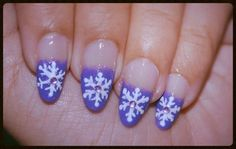 Christmas Snowflakes Nail Art by DemisNails - Nail Art Gallery nailartgallery.nailsmag.com by Nails Magazine www.nailsmag.com #nailart
