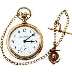 Gorgeous Illinois Nauical 15 Jewel Triple Fold Railroad Pocket... ❤ liked on Polyvore featuring jewelry, watches, accessories, fillers, clock, chains jewelry, jewels jewelry, pocket watch, anchor jewelry and pocket watches