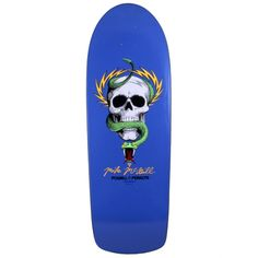 Powell Peralta Skateboards   Powell Peralta Mike McGill Skull & Snake Re-Issue Deck   Blue 10 x 30.375