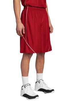 Sport-Tek PosiCharge Mesh Reversible Spliced Short. T565/SM. $15.98 each, plus imprint. Call for available colors. #sports #shorts #team #basketball #marchmadness