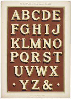 "Imágenes del libro ""The Sign Writer and Glass Embosser"" de William & WG Sutherland, publicado por Decorative Art Journals Company Limited en 1898."