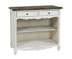 Mueble en madera de betula con 2 cajones y 2 estantes – natural y blanco