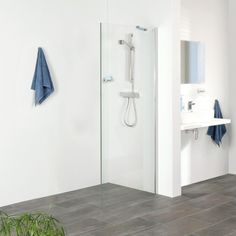 Get Wet by Sealskin Inloopdouche type Zilver hoogglans/Helder glas Getting Wet, Bathroom Hooks, Cabinet, Storage, Furniture, A3, Home Decor, Type, Clothes Stand