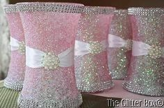 Glitter Vase Centerpiece Wedding | ... decor centerpieceser decor pink glitter vases glitter wedding vases