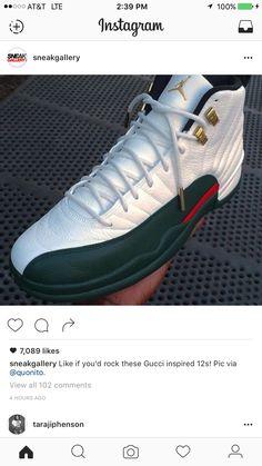 sports shoes 9bc1c 7618f Gucci Jordans, Air Jordans, Jordan 12 Shoes, Custom Shoes, Sneakers Fashion,