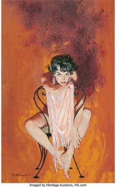 Robert McGinnis (American, You Can't Live Forever paperback cover, 1959 Gouache on board x - Available at 2020 April 24 Illustration Art. Robert Mcginnis, Pulp Fiction Art, Pulp Art, Walt Disney, Arte Horror, Up Girl, Magazine Art, Erotic Art, American Artists