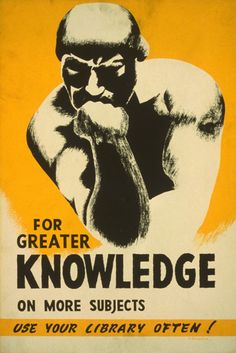 AMERICAN KNOWLEDGE BOOK RODIN THINKER REPRO POSTER | eBay