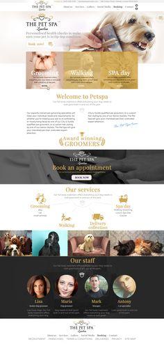 petspa webdesign and logo