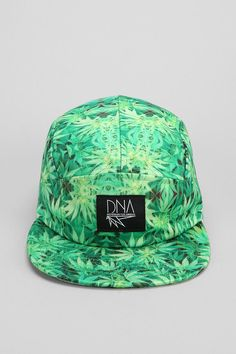 DNA Pattern 5-Panel Hat; I can't tell if these are pot leaves or not but I dig it.