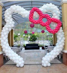 Hello Kitty Birthday Balloon Arch decor