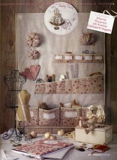 sewing room wall hangings   Great idea for wall hanging organizer - for my sewing room! :)
