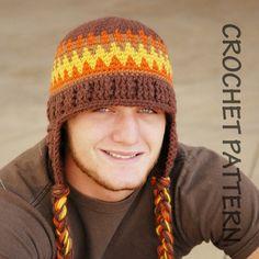 Grownups Old School Beanie crochet hat pattern