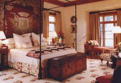 regal bedroom ~ Bunny Williams design