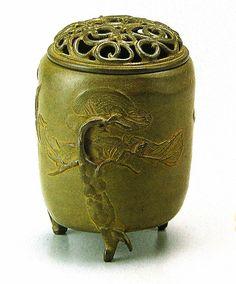 Japanese bronze Incense Burner by Natorigawa Masashi - 50,760 JPY