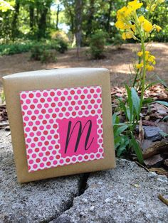 Monogram gift enclosure cards