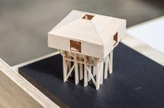 Galería de 'Arquitectura reflexiva' en torno a la madera: 10 arquitectos y estudiantes exhiben sus obras en Puerto Montt, Chile - 25 Arch Model, Smart City, Photo Holders, Environmental Design, Cube Storage, Miniture Things, Architecture Design, Concept, Villa