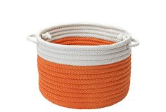 "14"" Color-blocked Basket, Orange/White on OneKingsLane.com"