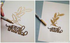 DIY Art Print-Silhouette Pen Holder Tutorial | bydawnnicole.com