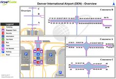 A look inside the terminal and concourses at Denver international ...