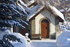 This lovely door is begging to be opened. Charming Alpine cottage in Zermatt.