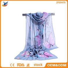 Check out this product on Alibaba.com App:wholesale stock Luxury Silk Scarf Silk Feeling Butterfly Pattern Chiffon Scarf https://m.alibaba.com/RrYzUf