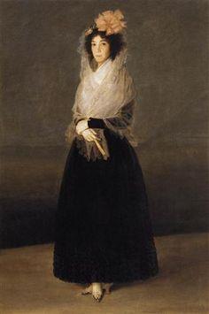 Francisco José de Goya y Lucientes - Portrait de la comtesse del Carpio - 1794 - 1795 - huile sur toile - Musée du Louvre - Paris