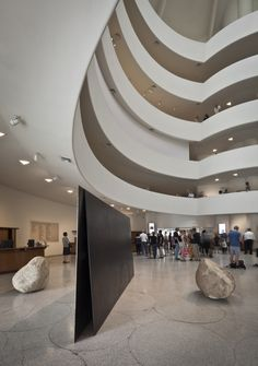 Lee Ufan at the Guggenheim in 2011. This was one of the most beautiful exhibitions I've seen - and the space was perfect for his work. Not to mention that he's one of my favorite artists...