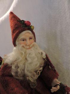 Sleigh riding Santa
