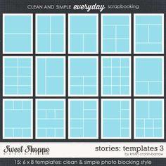 Sweet Shoppe Designs::Shop By Designer::Kristin Cronin-Barrow::Stories: Templates 3 by Kristin Cronin-Barrow