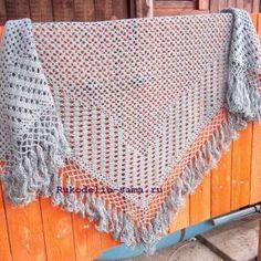 Филейное вязание шаль крючком