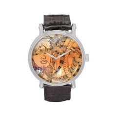 Always Summer Mandala Wristwatch Jones Fashion, Tarot, Mandala, Fashion Accessories, Symbols, Watches, Orange, Yellow, Color