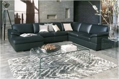 Tips That Help You Get The Best Leather Sofa Deal. Leather sofas and leather couch sets are available in a diversity of colors and styles. A leather couch is the ideal way to improve a space's design and th Leather Modular Sofa, Best Leather Sofa, Leather Lounge, Sofa Deals, Modular Lounges, Sofa Price, Office Sofa, Couch Set, Living Room With Fireplace