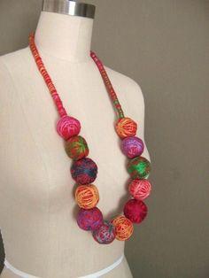 FIBER CELEBRATION - Textile Necklace
