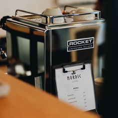 Rocket I'ts good  Try it  #matamataclothing #coffee #rocket #espressomachine #espresso #nordic #coffeeroaster #coffeetime #coffeelover #coffeegram #coffeeshop #coffeeaddict #cappuccino #latteart #latte #latteartist #barista #baristadarlings #coffeeprops #alternativebrewing #manmakecoffee #manualbrew #v60 #singleorigin #siphon #camera #fujifilm #aeropress #cemex http://ift.tt/1Vbg53z