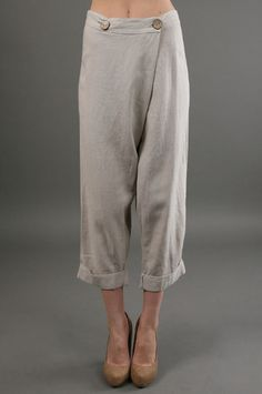The Wrap Pant in Sand by Tysa at CoutureCandy.com