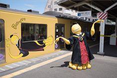 Koro-sensei de Assassination Classroom conduce tren de Tokyo.