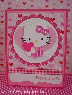Hello Kitty Valentine's Day Card