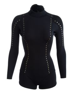 Gold dots on a wetsuit?? Why the hell not!! Cynthia Rowley - Gold Dot Wetsuit | Surf & Swim by Cynthia Rowley