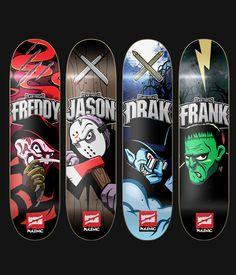 Polemic Skateboards by Gabo Romero, via Behance