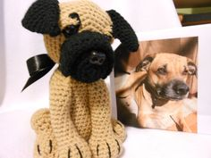 Crochet Dog Custom Made to Look Like Owner's Dog by KatesCache