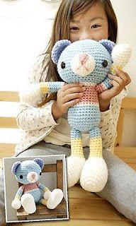 1500 Free Amigurumi Patterns: Amikomo-3-34 Amigurumi Bear