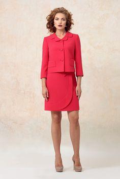 Когда хочется быть самой яркой в офисе... Office Outfits For Ladies, Suit Fashion, Fashion Outfits, Blazers, Retro Dress, Classy Dress, Fashion Details, Suits For Women, Peplum Dress