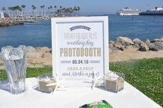 Photo Booth Sign! #ShorelinePark #Long Beach #Wedding