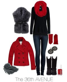 Casual Fall-Winter Outfit by the36thavenue.com This winter outfit is perfect for a shopping day, walking downtown, or even an informal dinner.  So cute!