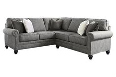 Graphite Kittredge 2-Piece Sectional View 2