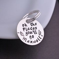 Oh The Places You'll Go Keychain from georgie designs personalized jewelry