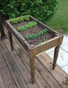 How to Make a Lettuce Table from Cast Off Furniture - Creative Green Living