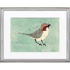 Add gallery-worthy style to your decor with this framed print from Artfully Walls, showcasing a sparrow on a branch.  Product: F...